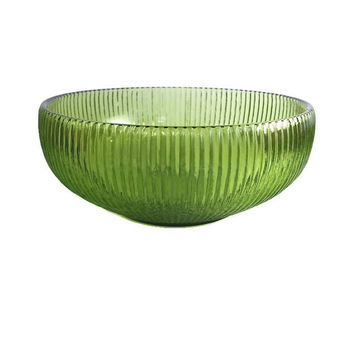 E.O. Brody Ribbed Avocado Green Bowl, Decorative Glassware,Indiana Glass Co, Anchor Hocking, Retro Kitchen, Candy Nut Dish,Holiday Dishes
