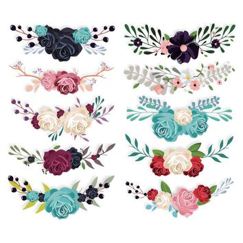 Colife Flower Patches For Clothing DIY Accessory Decoration Iron On T-shirt Dresses Patch 10pcs/lot A-level Washable