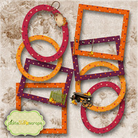 Mix & Match Collection Vol4 - 8 Digital Frames - Digital Scrapbooking Elements - CLUSTER Frames - INSTANT DOWNLOAD