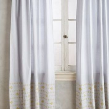 Stitched Floret Curtain by Anthropologie