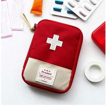 Red Medical Bag Emergency Kit