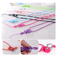 New fashion Charming Rope multi color neck hang for iPhone 7 plus mobile phone shell portable DIY nylon wire Lanyard straps