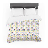 "Tobe Fonseca ""Portugal Pattern RGB"" Yellow Blue Digital Featherweight Duvet Cover"