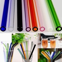 8mm Reusable Straight Pyrex Glass Drinking Straws for DIY Wedding Birthday Party Tools