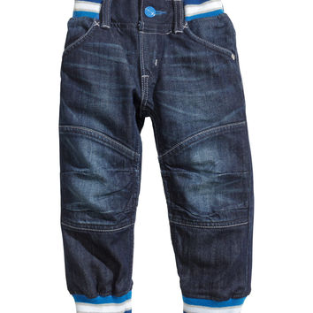 H&M - Loose Jeans - Dark denim blue - Kids
