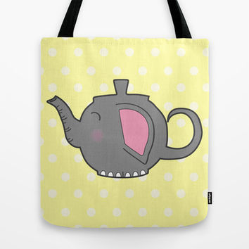 Elephant Teapot Tote Bag by KJ53321 | Society6