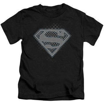 Superman - Checkerboard Short Sleeve Juvenile 18/1