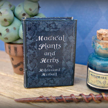 Miniature Book Magical Plants and Herbs in 1/12 inch scale by LittleWooStudio