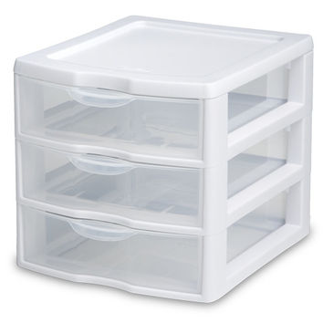 Sterilite 3 Drawer Clear Mini Unit 20738006