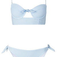 Blue Stripe Triangle Bikini