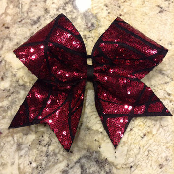Crackle sequin bow