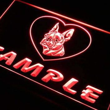 Personalized Name Boston Terrier Dog LED Neon Light Sign