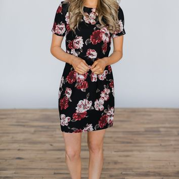 Blooming at Midnight Floral Dress