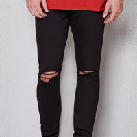 PacSun Stacked Skinny Ripped Black Stretch Jeans at PacSun.com