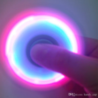 Colorful LED Hand Spinner with Switch Flashing Toy Tips Spiral Fingers Fidget Spinner EDC Hand Spinner Fidgets Gyro Toys with Retail Box