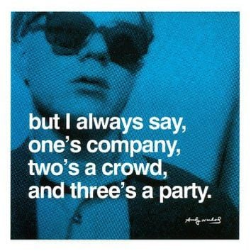 Three's a Party Art Poster Print by Andy Warhol, 11x14