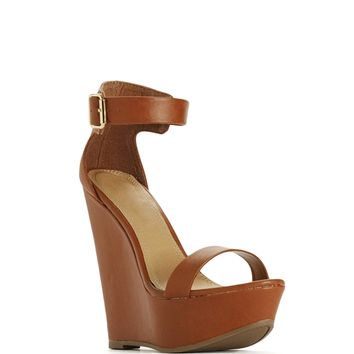 Sale-ankle Strap Wedge