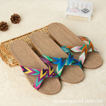 Flax Summer Sandals 2017 Beach, Poolside, Home.