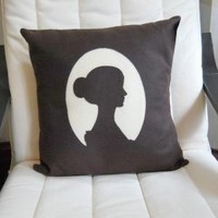 The Cameo Pillow by diffractionfiber on Etsy