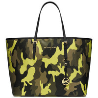 Michael Kors Medium Jet Set Camo Travel Tote