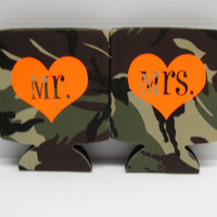 Camo Mr. and Mrs. Koozies