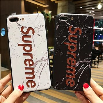 SUPREME Print Iphone 6 6s 6Plus 6sPlus 7 7 Plus 8 8 Plus X Phone Cover Case