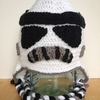 Stormtrooper helmet hat, stormtrooper hat, Star Wars inspired hat, size 5t to pretten, READY TO SHIP