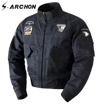Trendy S.ARCHON Winter Warm Cotton Tactical Bomber Jacket Men Wool Liner Thick Thermal Military Coat Clothes Airborne Army Pilot Jacket AT_94_13
