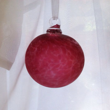 Made to Order Blown Glass Witch Ball / Christmas Ornament, Blown Clear or Frosted Glass in Any Color