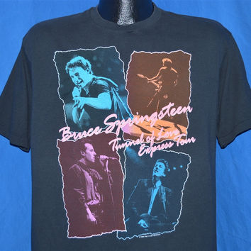 80s Bruce Springsteen Tunnel Love Tour LA Dark Ride t-shirt Large