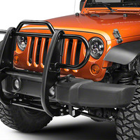 Black Horse Off Road Wrangler Grille Guard - Black 17JPWRMA (07-17 Wrangler JK) - Free Shipping