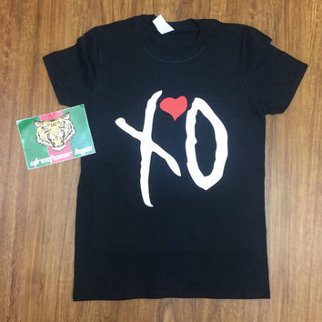 The Weeknd XO T-shirt  XO Black ,Starboy,Legend Of The Fall Tour,The Weeknd merch,starboy merch,The Weeknd Clothing purpose tour Yeezus