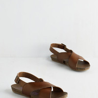 ModCloth Boho Cartwheel Have a Ball Sandal in Hickory