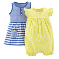 Carter's Print Romper & Dress Set - Baby