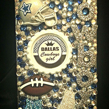 Dallas Cowboys Crystal phone case, bling case, football sports case