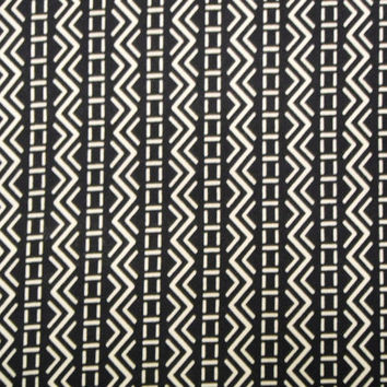 Indigo Geometric Vintage Japanese cotton kimono fabric