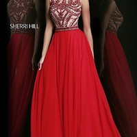 Full Length Red Formal Gown