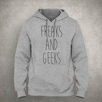 Freaks and geeks - Gray/White Unisex Hoodie - HOODIE-022