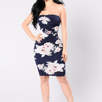 Something To Talk About Dress - Navy