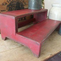 Primitive Distressed steps | sonriseacresprimitives - Furniture on ArtFire
