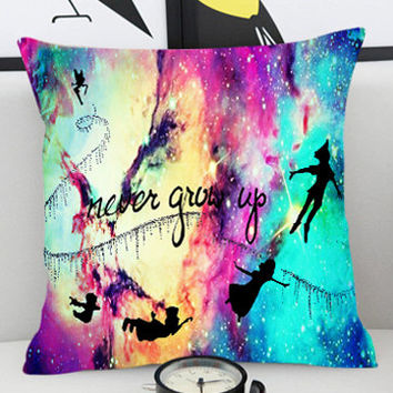 PeterPan Never Grow Up  - Pillow Cover by PillowKesetiaan.