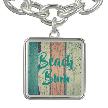 Boardwalk, beach bum charm bracelet