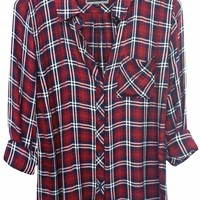 Rails Hunter Plaid Shirt in Chianti/White