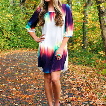 Aurora Borealis Dress - Plum