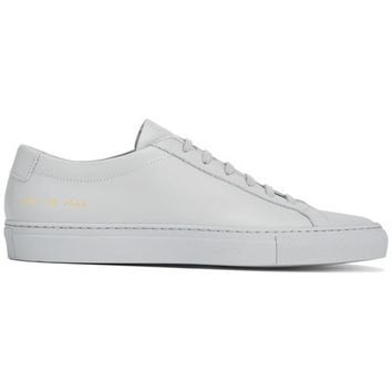 Common Projects Grey Original Achilles Leather Sneakers - Farfetch