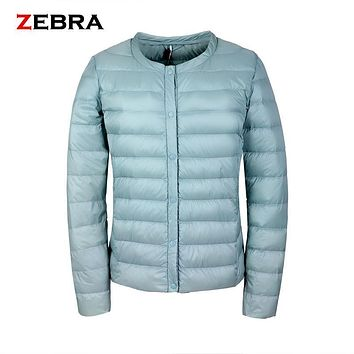 2017 Winter Solid color Slim O-Neck Thin Loose Casual women dress  White Duck Down Parkas Coats Women Short Female Down Jacket