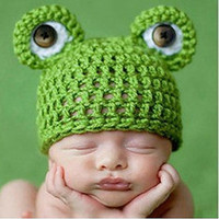 Crochet Knit Baby Photo Props, Crochet Green Frog Hat, Newborn Knit Photo Props, Crochet Knit Baby Beanie Hat Costume, Baby Shower Gift