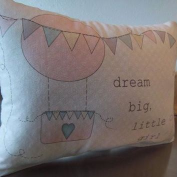 Pink balloon pillow baby gift nursery throw pillow playroom decor