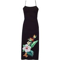 tropic hawaiian long spaghetti dress