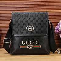 GUCCI Men Fashion Leather Office Bag Crossbody Satchel Shoulder Bag